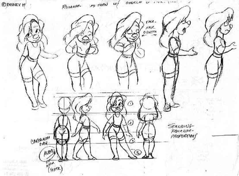 Goofy Movie Roxanna Character Model Sheets